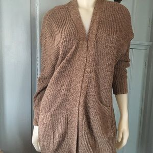 BDG/ URBAN OUTFITTERS Chunky Rib Open Cardigan